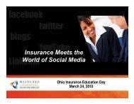 Insurance Meets the World of Social Media - Ohio Insurance Institute