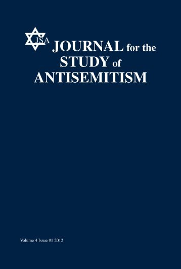 Volume 4 No 1 - Journal for the Study of Antisemitism
