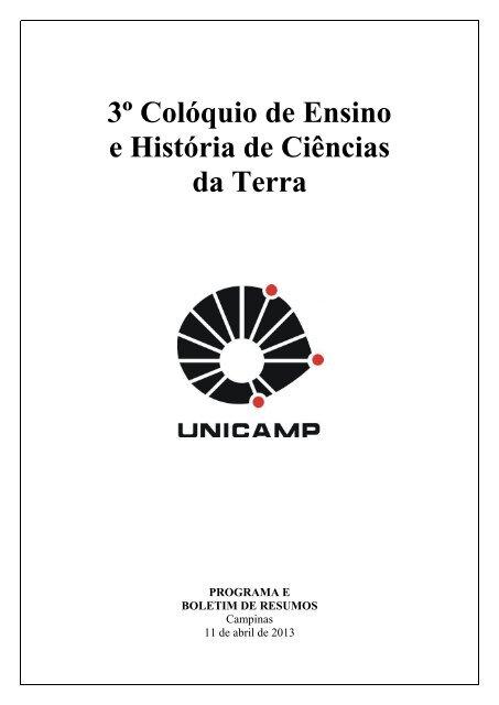 20130405034418-caderno III Coloquio de ... - IGEO- Unicamp