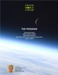 the program of the 2013 green world forum