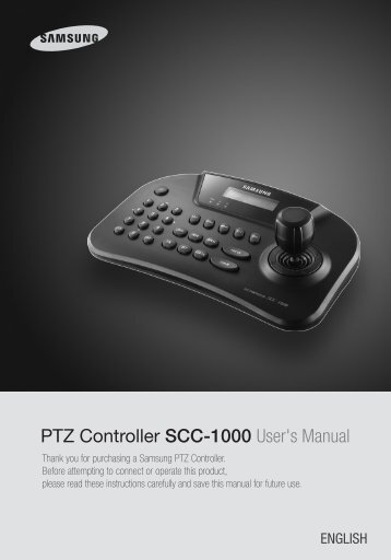 PTZ Controller SCC-1000 User's Manual