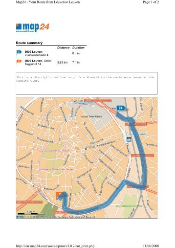 Route summary Page 1 of 2 Map24 - Your Route from Leuven to ...
