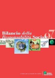 Bilancio sociale 2007 - Bnl