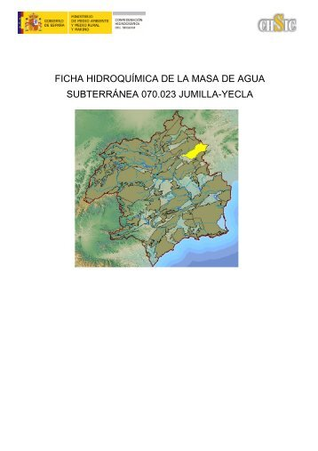 ficha hidroquímica de la masa de agua subterránea 070.023 jumilla ...