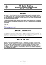 August - The Naval Wargames Society