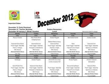 December 2012- EES - Eudora Schools
