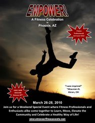 March 26-28, 2010 - Life Time Fitness