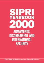 SIPRI Yearbook 2000, Summary