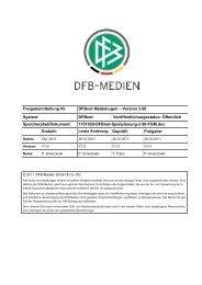 Freigabemitteilung zum Meldebogen - Kreis 4 Beckum