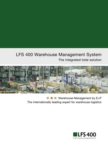 LFS 400 Warehouse Management System - Ehrhardt + Partner