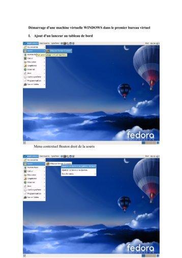 Démarrage d'une machine virtuelle WINDOWS ... - UFR Math-Info
