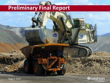 Preliminary Final Report Presentation (PDF - 1.3 MB) - Leighton ...