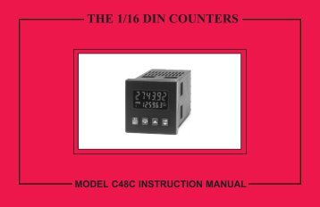 C48C Manual PDF - Red Lion Controls