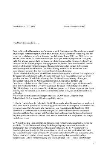 GAL - Stadtpolitik Heidelberg
