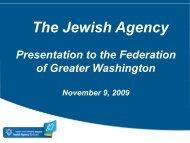 JAFI Presentation to The Jewish Federation of Greater Washington