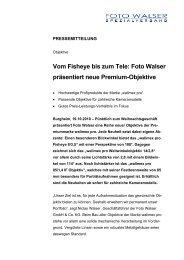 Foto Walser präsentiert neue Premium-Objektive