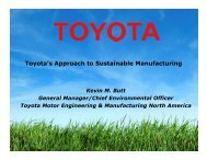 Toyota's Approach to Sustainable Manufacturing