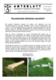 Amtsblatt August 2011 - in Trausdorf an der Wulka
