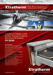 Flat Roof Solutions FR/BGM - Xtratherm