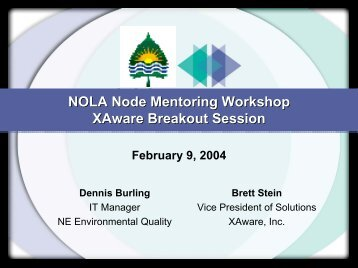 Installation of XA-Node - The Exchange Network