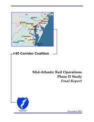 90 Mid-Atlantic Rail Operations Phase II Study Final Report