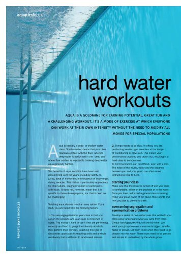 hard water workouts