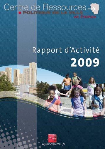 Rapport d'activité 2009 Centre de Ressources Politique de la ... - crpve