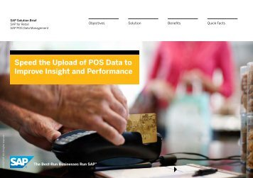Speed the Upload of POS Data to Improve Insight and ... - SAP.com