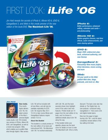 FIRST LOOK: iLife '06 - Jim Heid's Mac iLife