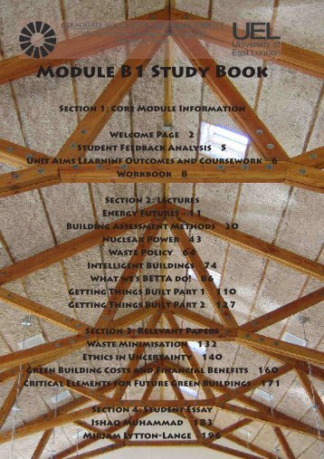 Module B1 Study Book - the Graduate School of the Environment