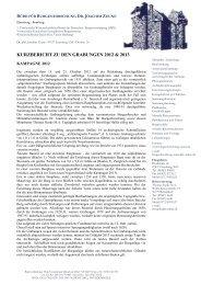 Den Kurzbericht mit den Grabungsergebnissen 2013 finden Sie hier.