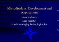 Microdisplays: Development and Applications - Loreti.it