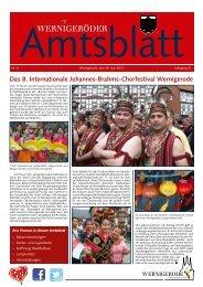 Amtsblatt Stadt Wernigerode 06 - 2013 (4.91 MB)