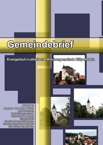 Gemeindebrief - Evang.-Luth. Kirchengemeinde Hiltpoltstein