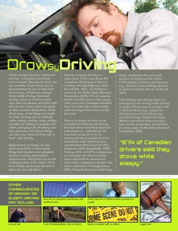Drowsy Driving - City of Windsor Wellness