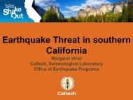 EARTHQUAKES THREAT IN SOUTHERN CALIFORNIA