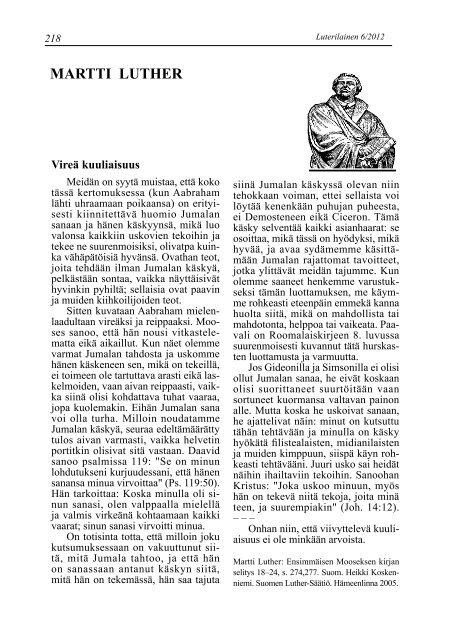 Suomen Tunnustuksellinen Luterilainen Kirkko