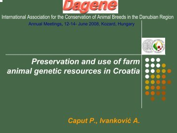 Preservation and use of farm animal genetic resources in ... - dagene