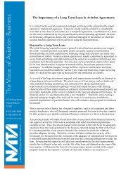 The Importance of a Long Term Lease in Aviation Agreements - NATA