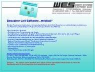 "Besucher-Leit-Software ""medical"""