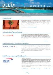 Air Canada, direct flights to Montreal Air France ... - Delta Voyages