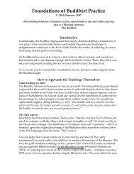 Foundations of Buddhist Practice - Wisebrain.org