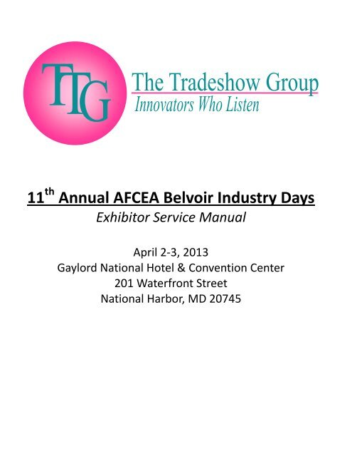 11 Annual AFCEA Belvoir Industry Days
