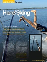 Hand skiing - USA Water Ski