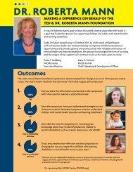Mann Foundation Symposium Outcomes - PACER Center