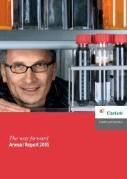 Annual Report - Clariant