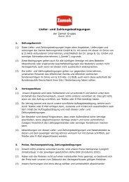 AGB Verkauf: Liefer- und Zahlungsbedingungen - Zamek