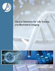 Optical Solutions for Life Science and Biomedical Imaging - Navitar