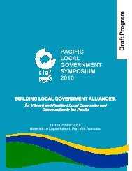 Download programme - Commonwealth Local Government Forum