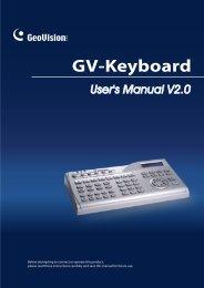 GV-Keyboard - GeoVision